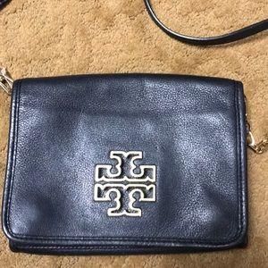 Authentic Tory Burch Small Black Cross-body bag